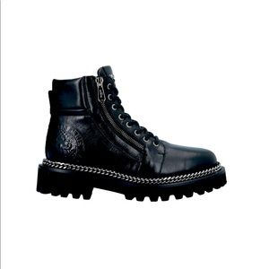 Ranger Army shiny leather ankle boots